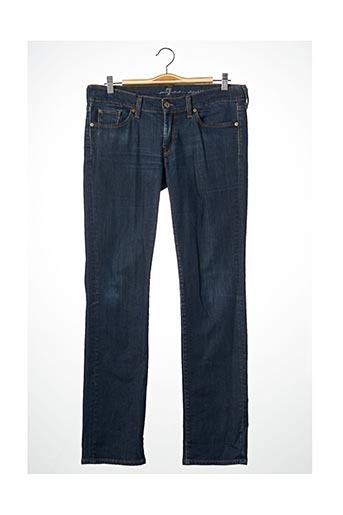 Jeans coupe droite bleu FOR ALL MANKIND pour femme