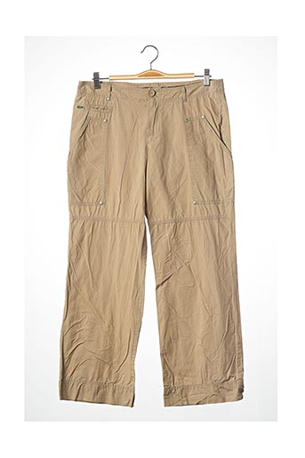 Pantalon casual beige LACOSTE pour femme