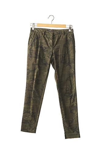 Pantalon 7/8 vert MASON'S pour femme