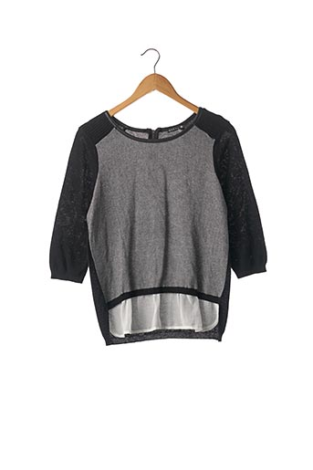 Pull col rond noir BREAL pour femme