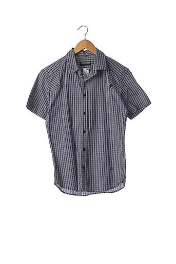 Chemise manches courtes bleu BILL TORNADE pour homme