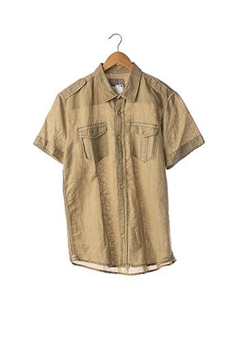Chemise manches courtes vert PULL & BEAR pour homme
