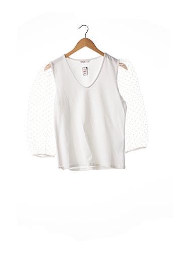 T-shirt manches longues blanc ONLY pour femme