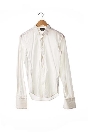 Chemise manches longues blanc ZARA pour homme