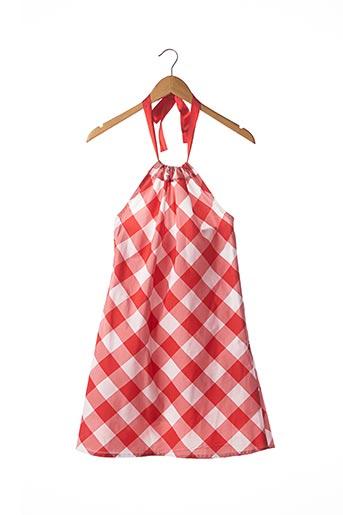 Robe courte rouge SANS MARQUE pour femme
