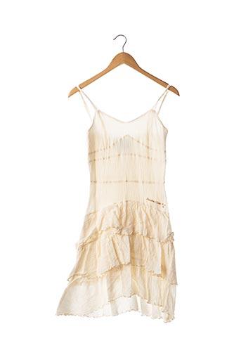 Robe mi-longue beige POUSSIERE D'ETOLE pour femme