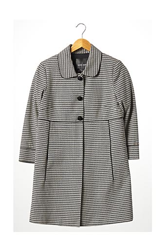 Manteau long noir DENNY ROSE pour femme