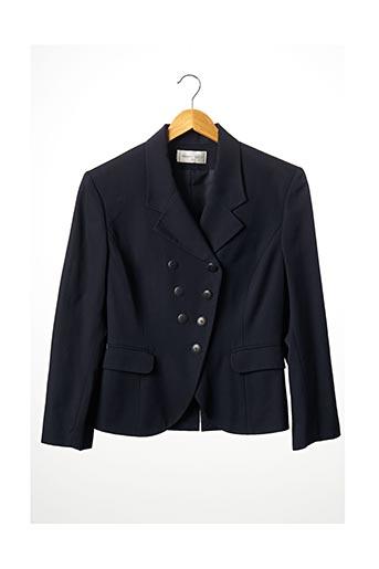 Veste en cuir bleu ARMAND VENTILO pour femme