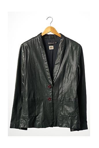 Veste en cuir vert ANTIK BATIK pour femme