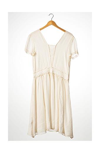 Robe mi-longue beige COMPTOIR DES COTONNIERS pour femme