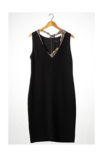 Robe mi-longue noir CÔTÉ LAC pour femme