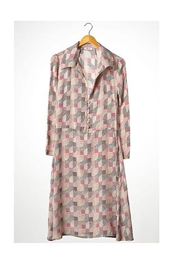 Robe mi-longue rose CIRCUS pour femme