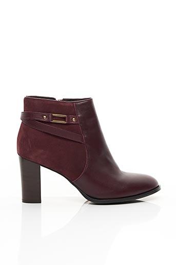 Bottines/Boots rouge COSMOPARIS pour femme