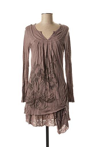 Robe courte gris CO2 pour femme