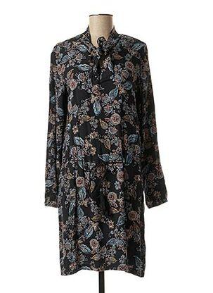 Robe mi-longue bleu COLINE pour femme