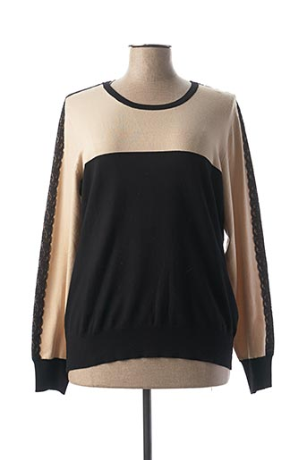 Pull col rond beige PAUL BRIAL pour femme