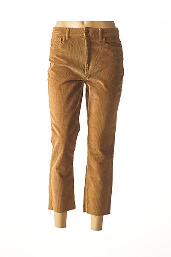 Pantalon 7/8 marron ONLY pour femme