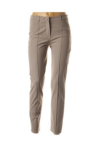 Pantalon casual beige RAFFAELA D'ANGELO pour femme