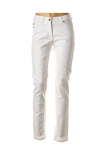 Pantalon casual blanc CAROLINE BISS pour femme