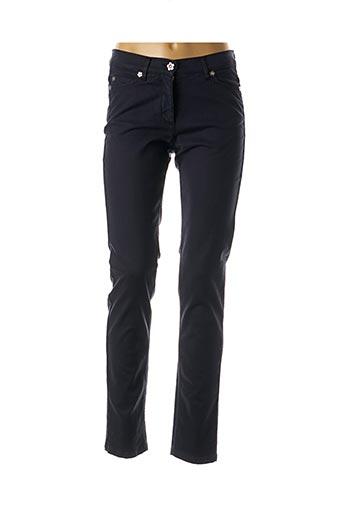 Pantalon casual bleu CAROLINE BISS pour femme