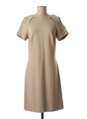 Robe mi-longue beige EVA KAYAN pour femme