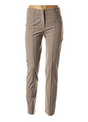 Pantalon casual beige RAFFAELA D'ANGELO pour femme seconde vue