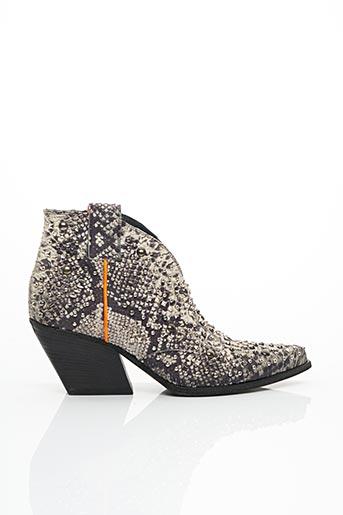Bottines/Boots beige ELENA LACHI pour femme
