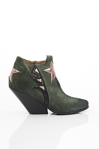 Bottines/Boots vert AERO pour femme