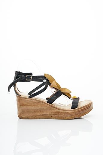 Sandales/Nu pieds jaune A.S.98 pour femme