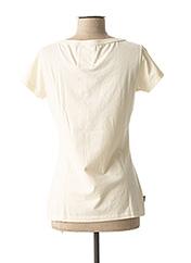 T-shirt manches courtes beige FRANKLIN MARSHALL pour femme seconde vue