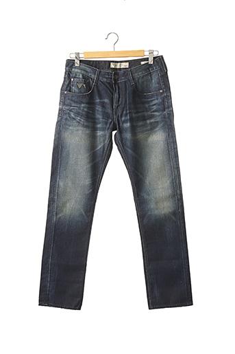 Jeans coupe droite bleu GUESS pour homme