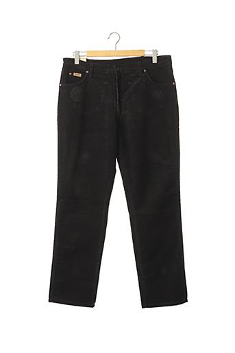 Pantalon casual noir WRANGLER pour homme