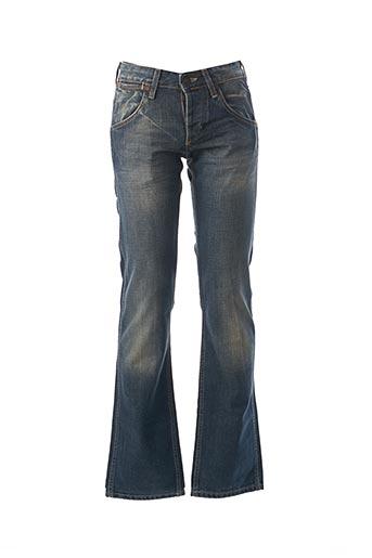 Jeans coupe droite bleu WRANGLER pour homme