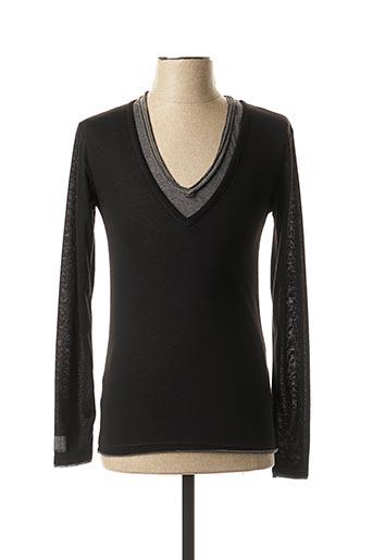 T-shirt manches longues noir ELEVEN COLORS pour homme