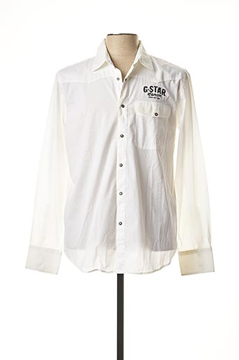 Chemise manches longues blanc G STAR pour homme
