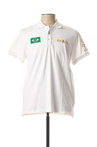 Polo manches courtes blanc A-STYLE pour homme