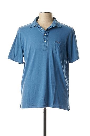 Polo manches courtes bleu RALPH LAUREN pour homme