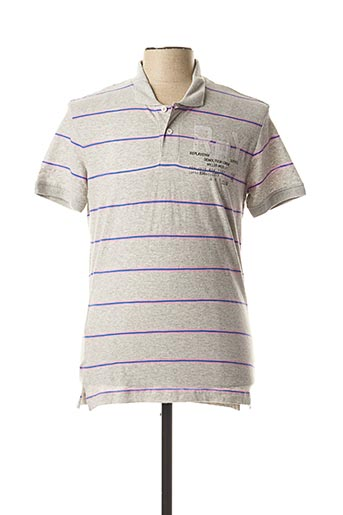 Polo manches courtes gris REPLAY pour homme