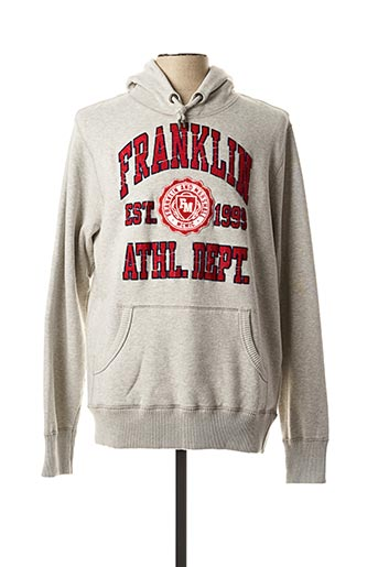 Sweat-shirt gris FRANKLIN MARSHALL pour homme