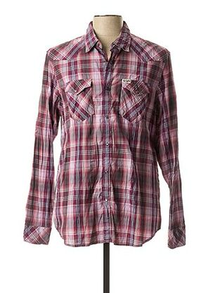 Chemise manches longues rose REPLAY pour homme
