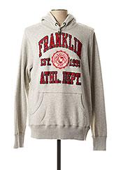 Sweat-shirt gris FRANKLIN MARSHALL pour homme seconde vue