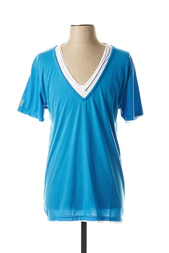 T-shirt manches courtes bleu ELEVEN COLORS pour homme