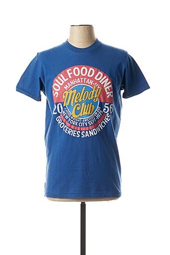 T-shirt manches courtes bleu FRANKLIN MARSHALL pour homme