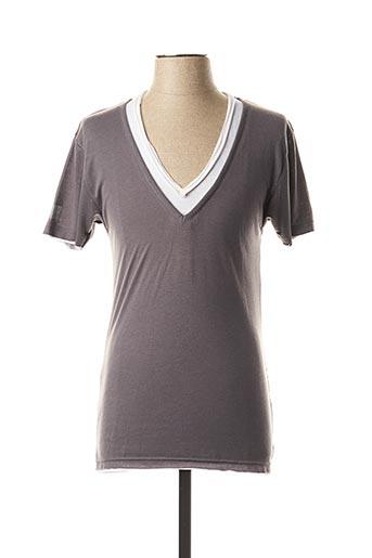 T-shirt manches courtes gris ELEVEN COLORS pour homme