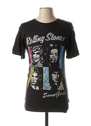 T-shirt manches courtes noir ELEVEN PARIS pour homme