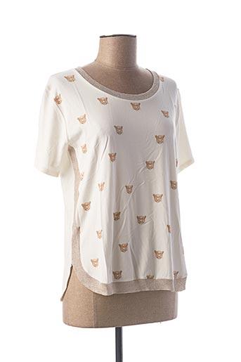 T-shirt manches courtes beige LE BOUDOIR D'EDOUARD pour femme