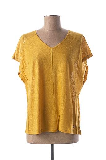 T-shirt manches courtes jaune LE BOUDOIR D'EDOUARD pour femme