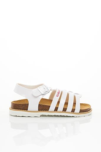 Sandales/Nu pieds blanc KICKERS pour fille