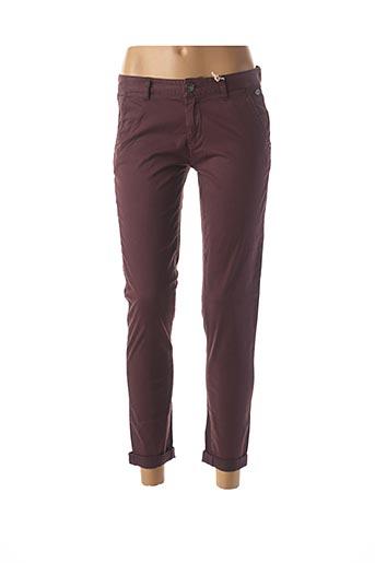 Pantalon casual violet DDP pour femme