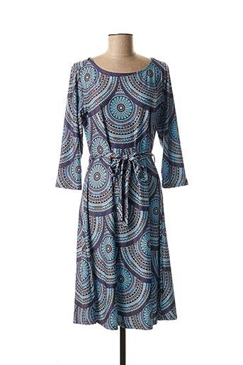 Robe mi-longue bleu SMASHED LEMON pour femme
